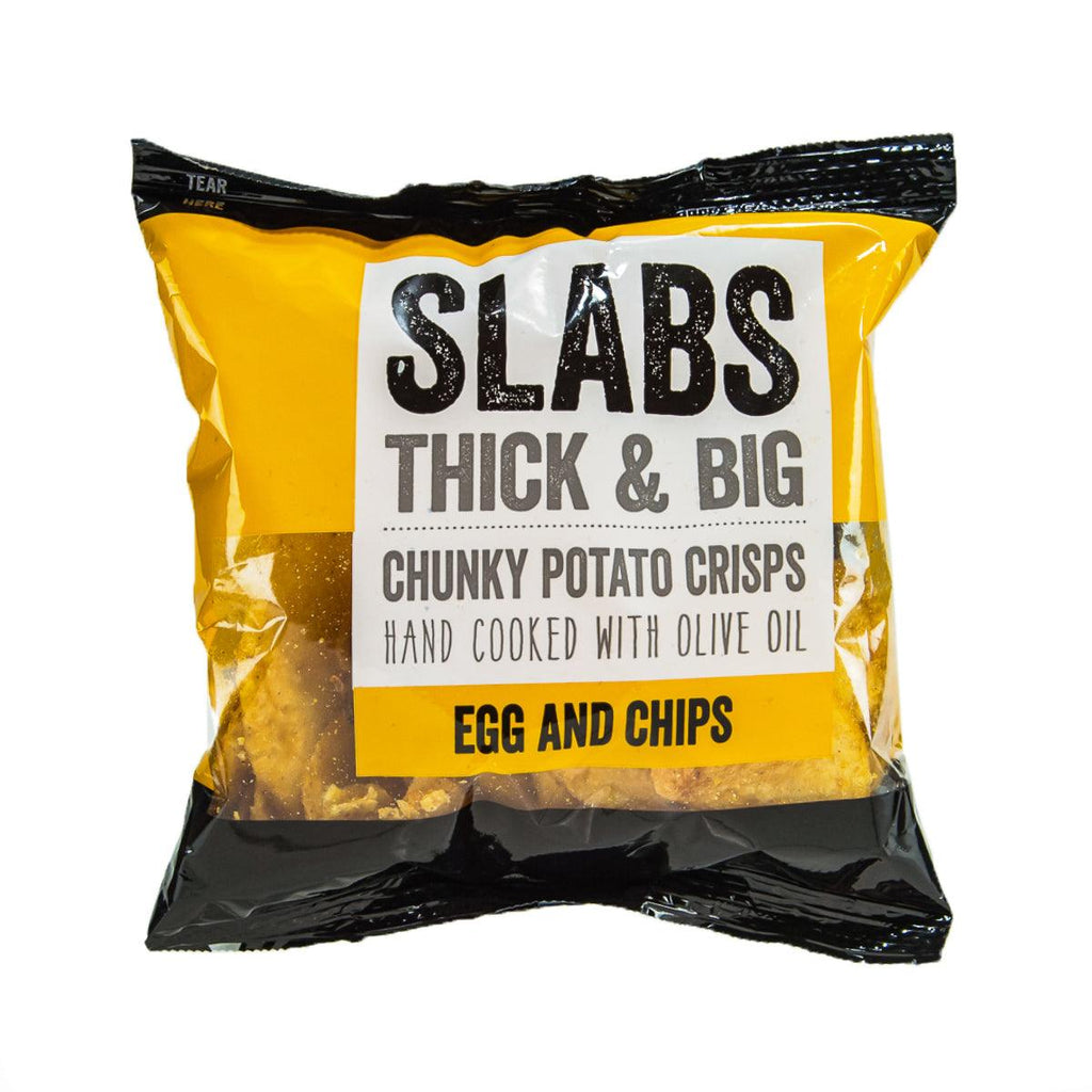 SLABS Thick and Big Chunky Potato Crisps - Egg & Chips  (80g)