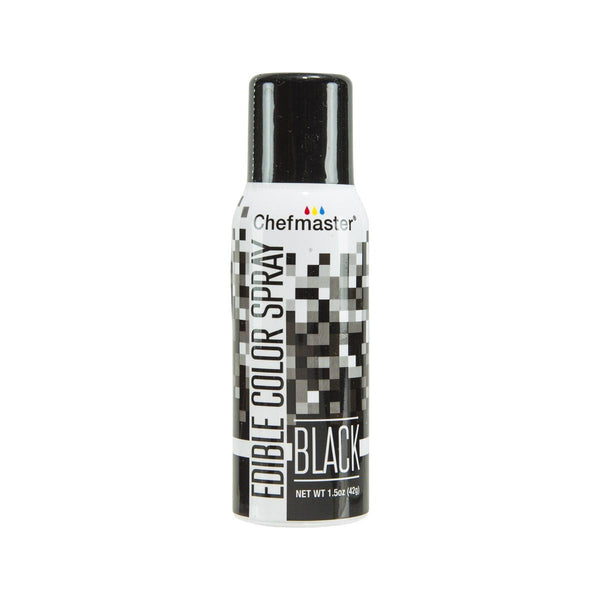 CHEFMASTER Edible Color Spray - Black  (42g)