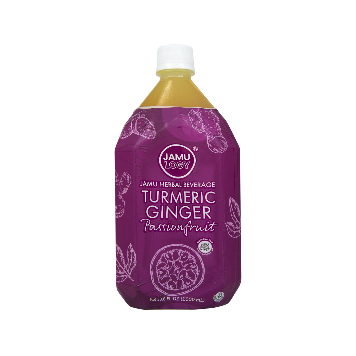 JAMULOGY Turmeric, Ginger and Passionfruit Jamu Herbal Drink  (1L)