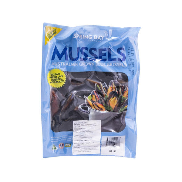 SPRING BAY SEAFOOD Organic Blue Mussels  (1kg)
