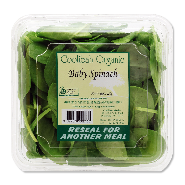 Australia Coolibah Organic Baby Spinach(1pack)