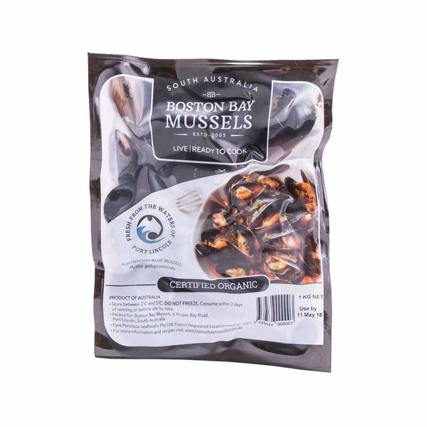 Boston Bay Australia Boston Bay Organic Live Blue Mussel(1kg)