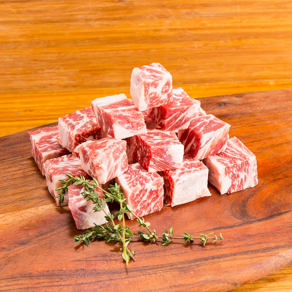 USA Prime Beef Short Rib Boneless Cube [Previously Frozen](300g)