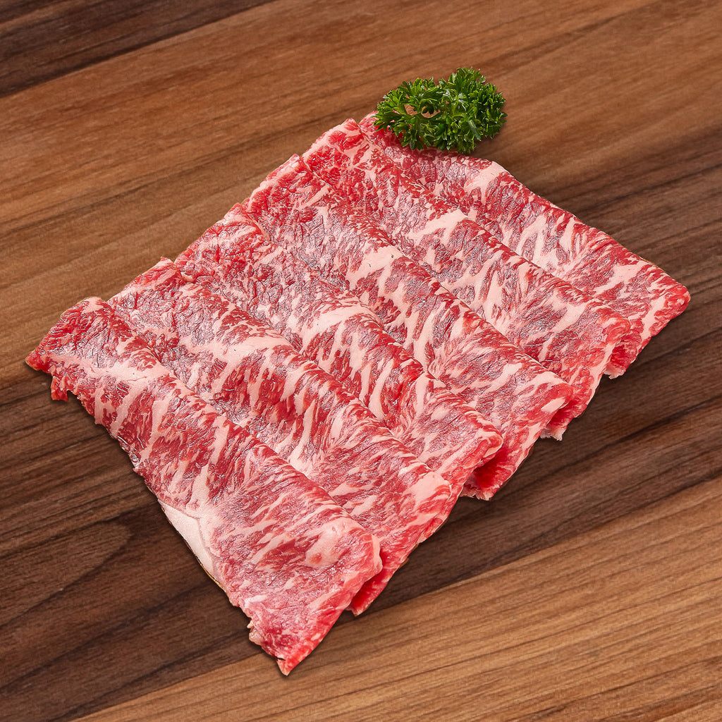 HOENGSEONG HANWOO Korea Hoengseong Chilled Grade 1++ Hanwoo Beef Striploin for Hot Pot  (300g)