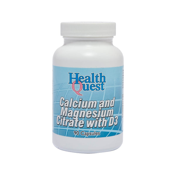 HEALTHQUEST Calcium and Magnesium Citrate with D3 Capsules  (90pcs)