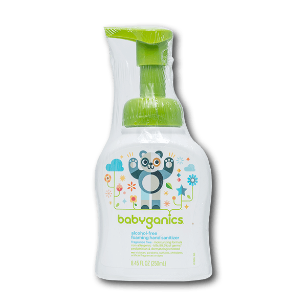 BABYGANICS Fragrance Free Foaming Hand Sanitizer  (250mL)