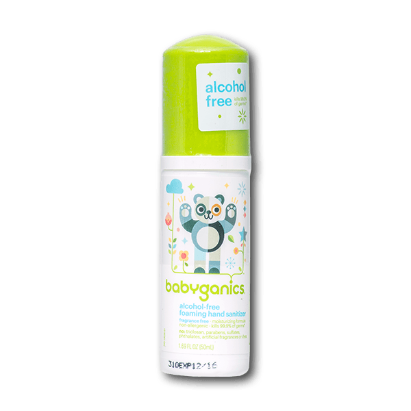 Babyganics Fragrance Free Foaming Hand Sanitizer(50mL)