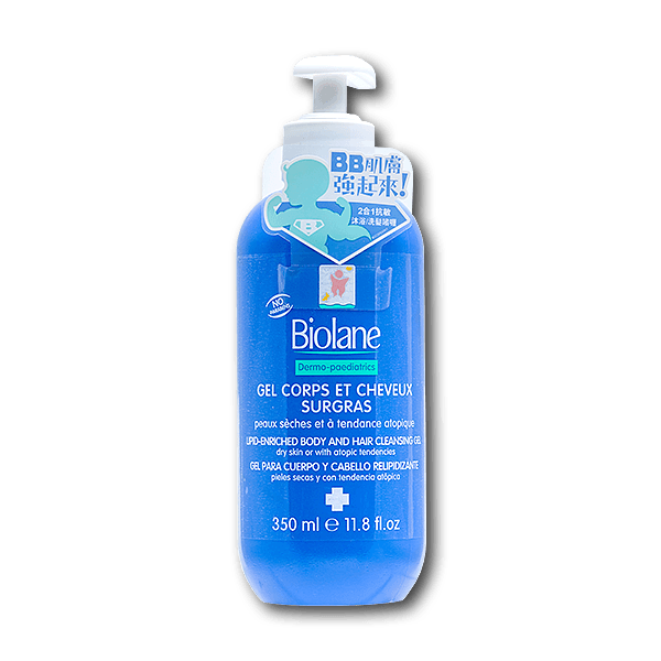 Biolane 2 in 1 Body and Hair Cleansing Gel Dermo - Paediatrics(350mL)
