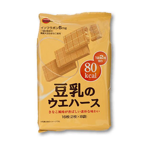 BOURBON Soymilk Wafers  (16pcs)