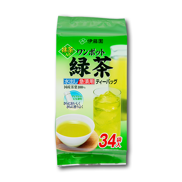 ITOEN Green Tea with Match Tea Bags  (34pcs)
