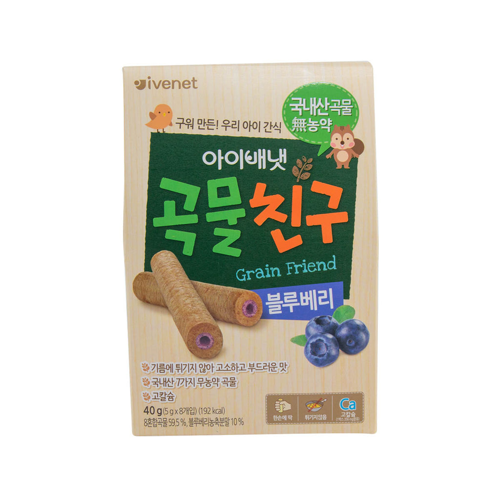 IVENET Bebe Grain Friend Snack (Blueberry)  (8 x 5g)