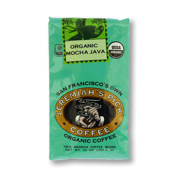 JEREMIAH'S PICK Organic Mocha Java Dark Coffee Bean  (283.5g)