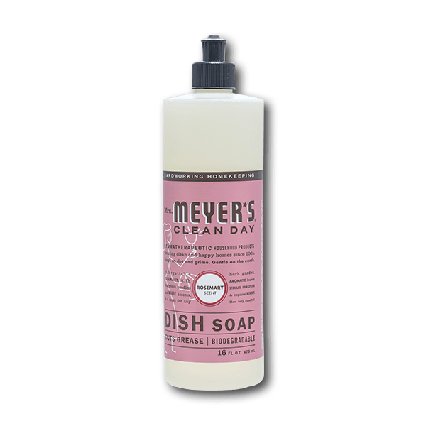 MRS. MEYERS Dishwashing Soaps Liquid, Rosemary  (16fl oz)