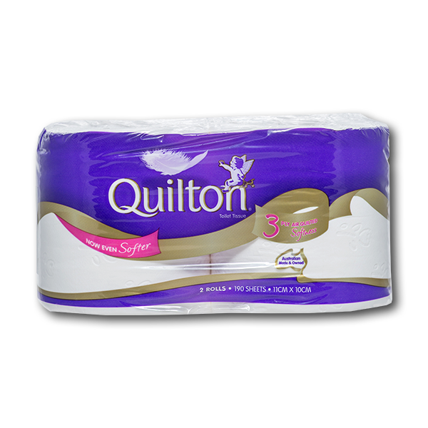 QUILTON Quiltion 3 Ply Classic Roll Tissue-set of 2