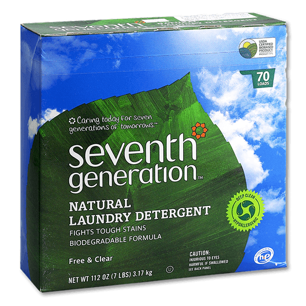 SEVENTH GENERATION Natural Laundry Powder-Free & Clear  (112fl oz)