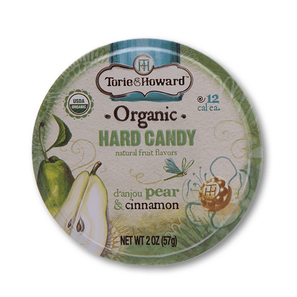 Torie & Howard Organic Hard Candy - D'Anjou Pear & Cinnamon Flavor(57g)