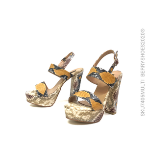 Sandalia alta estampado - Berry shoes México - Sandalia Alta - 7405MULTI