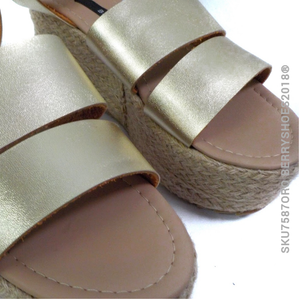 Plataforma doble tira - Berry shoes México - Plataforma - 7587ORO