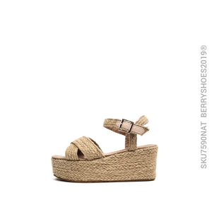 Plataforma yute natural - Berry shoes México - Plataforma - 7590NAT