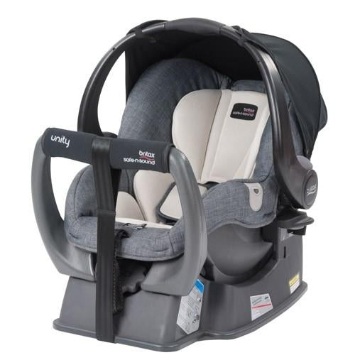 Britax Safe N Sound | Unity NEOS Baby Capsule : Dark Chambray/Cream