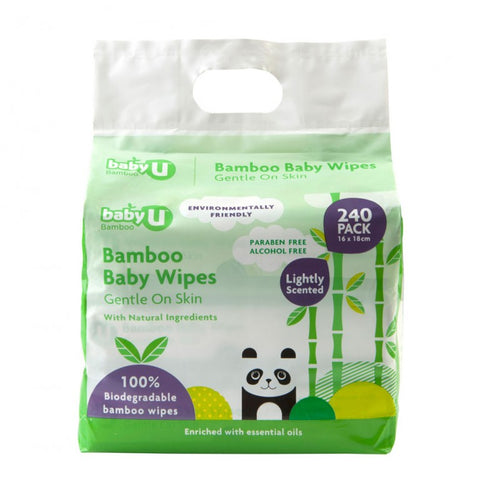 Baby U | Bamboo Wipes : 240pk