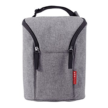 Skip*Hop | Grab & Go Double Bottle Bag : Heather : Grey