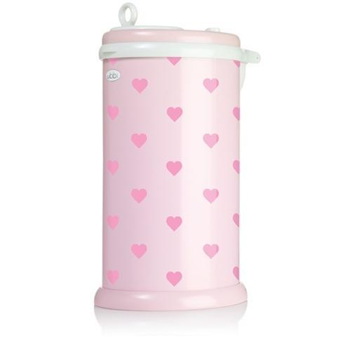 Ubbi | Nappy Bin Light : Pink with hearts