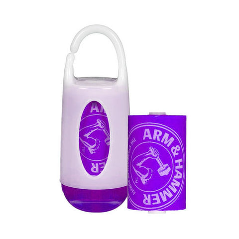 Arm & Hammer | Nappy Bag Dispenser and 24 Bag Refill Pack : Purple