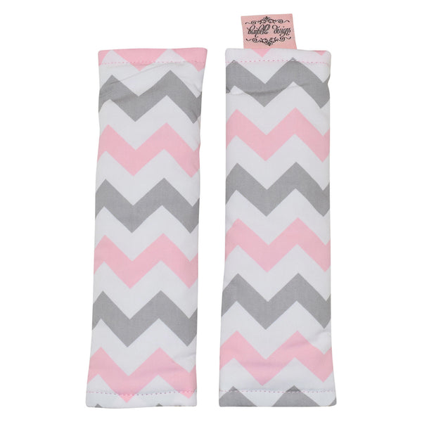 Bambella Designs | Harness Covers : Chevron Pink