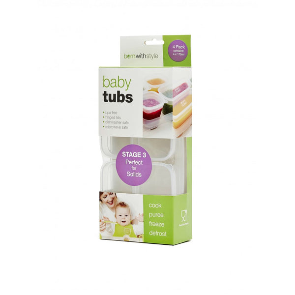 Born with Style | Baby Tubs Food Containers 4 Pack