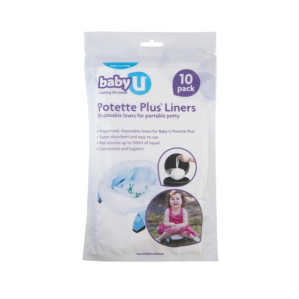 Baby U | Potette Plus Liners : 10 Pack