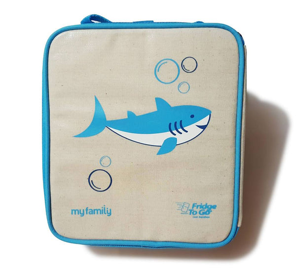 My Family Lunch Bag by Fridge to Go | Medium/Shark