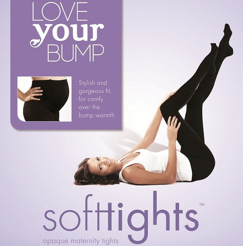 Fertile Mind | SoftTights Opaque Maternity Tights : Size 2 : Black