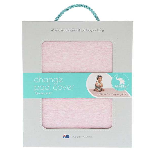 All4Ella | Change Pad Cover : Pink Marle