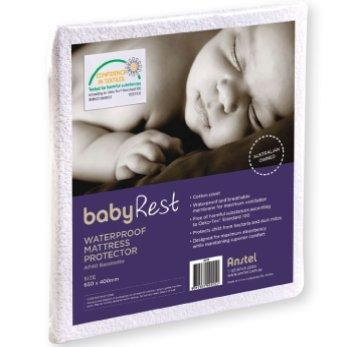 BabyRest | Waterproof Cot Mattress Protector : 1300 x 690