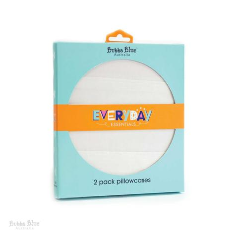 Bubba Blue | Everyday Essentials 2 Pack Pillowcases : White