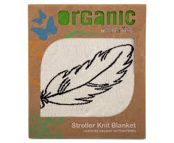Bubba Blue | Organic Cotton Stroller Knit Blanket : Feathers