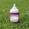 Cherub Baby | Glass Baby Bottle with Colour Change Sleeve 150ml : Purple