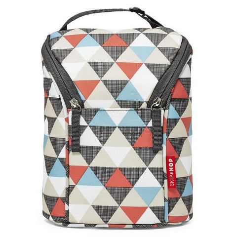 Skip*Hop | Grab & Go Double Bottle Bag : Triangles