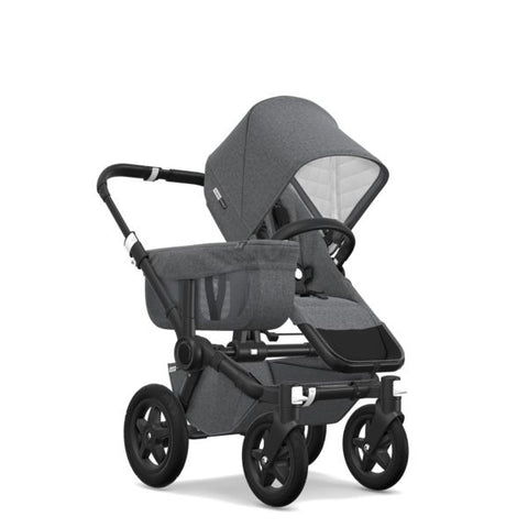 Bugaboo | Donkey2 Classic+ Mono Complete AU Black : Grey Melange (PRE ORDER FOR SEPTEMBER DELIVERY)