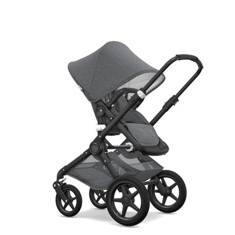 Bugaboo | Fox Classic+ Complete AU Black : Grey Melange (Pre Order for September Delivery)