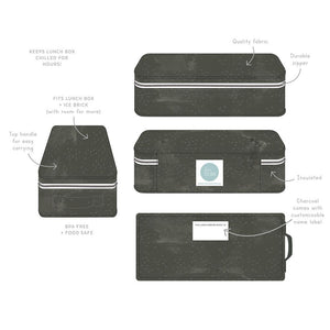 Love Mae Cooler Bag with Ice Brick -Slate