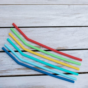 MontiiCo silicone straw set BLUE