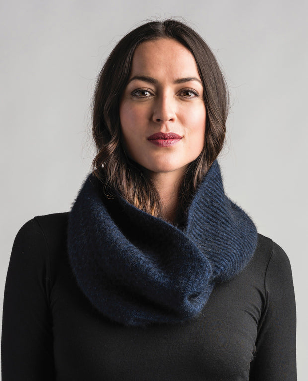 Texture Loop Scarf-Merinomink-The WoolPress Arrowtown