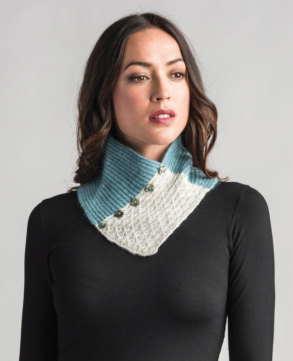Womens Lace Neck Warmer-Merinomink-The WoolPress Arrowtown