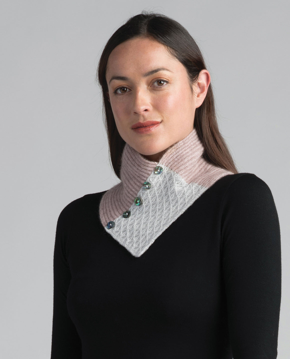 Merinomink Lace Neck Warmer wistful