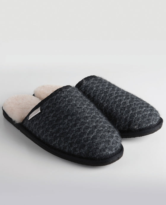 Merinomink-MM Slippers - Slate-shop online at www.thewoolpress.com
