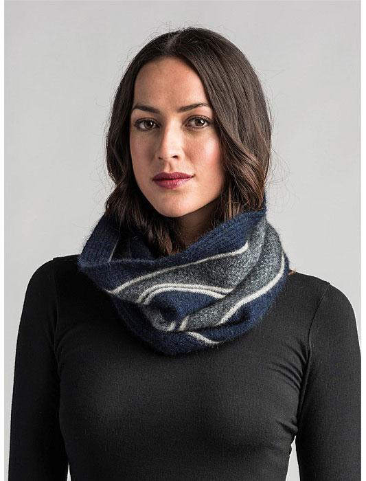 Merinomink-Womens River Snood-shop online at www.thewoolpress.com