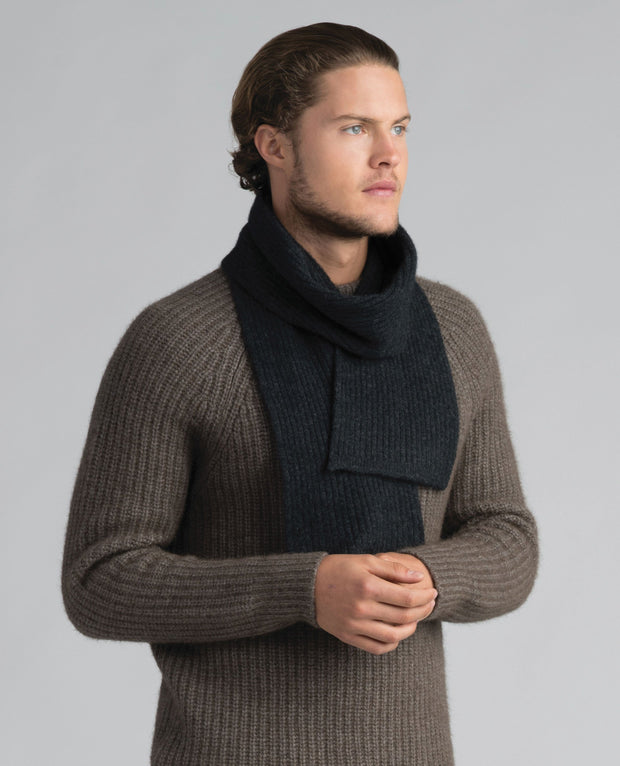 Unisex Fine Rib Scarf-Merinomink-The WoolPress Arrowtown