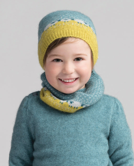Kids Sheep Beanie-Merinomink-The WoolPress Arrowtown